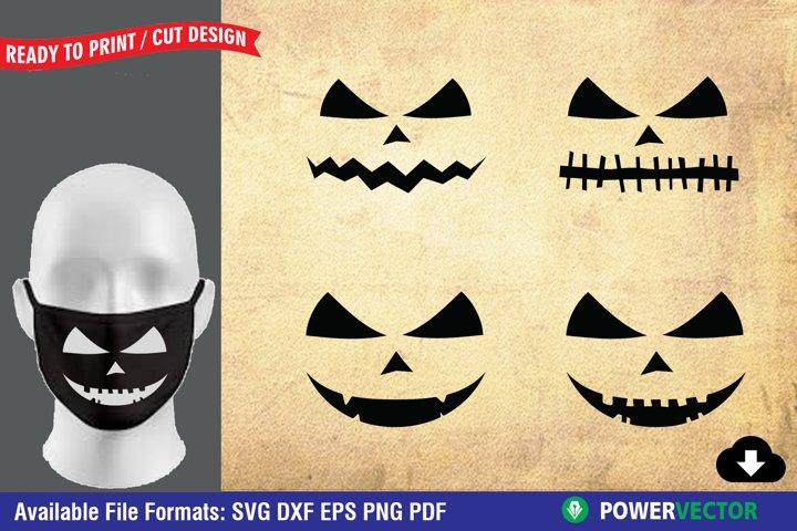 Pumpkin Face SVG | Halloween Cut Files for Crafter
