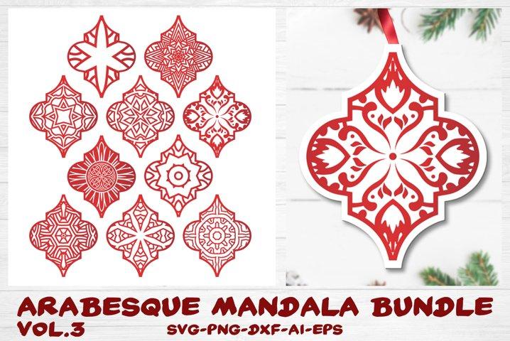 Arabesque Tile Ornament Bundle vol.3 - Christmas Mandala SVG