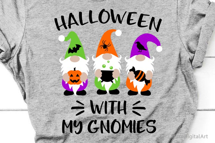 Halloween with My Gnomies Svg, Halloween Gnomes Kids Svg