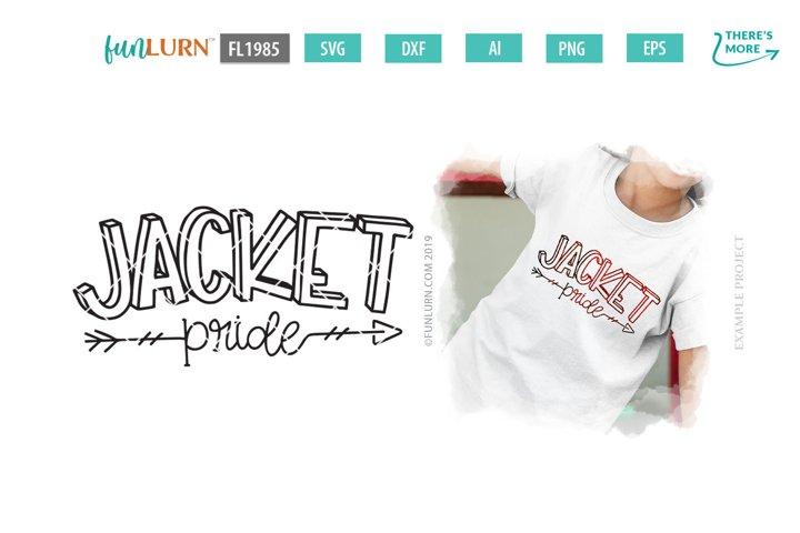 Jacket Pride Team SVG Cut File