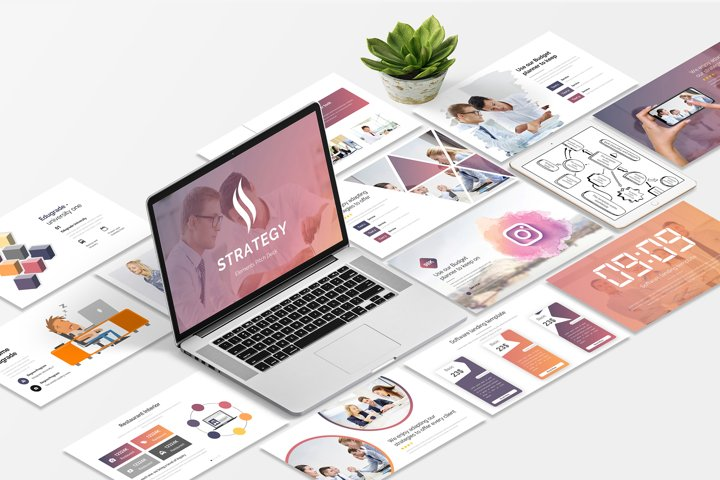Strategy Elements Pitch Deck Powerpoint Template