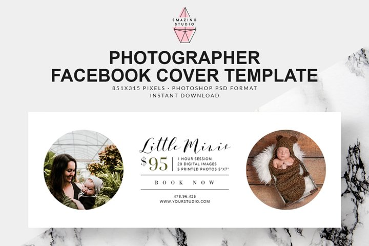Photographer Facebook Cover Template - FBC002