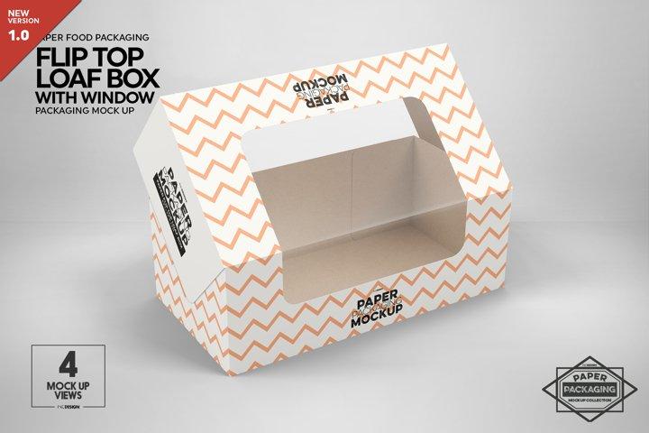 Flip Top Loaf Box Packaging Mockup