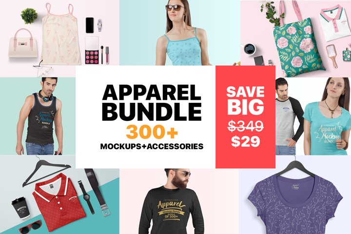 T-Shirt Mockup - Premium Apparel Mockups Bundle
