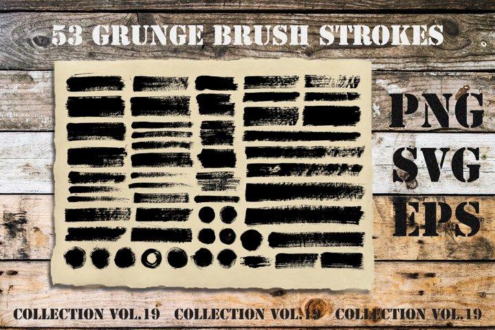 Brush Strokes SVG PNG Pack   Transparent Background   Vol.19