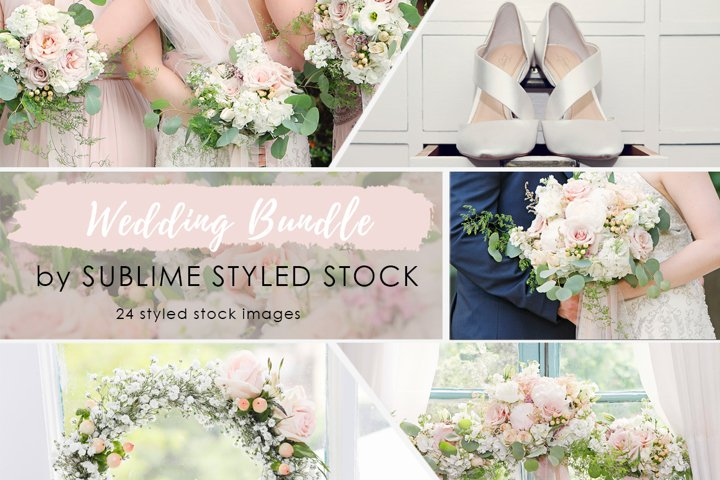 Wedding Stock Photo Bundle - 24 Images