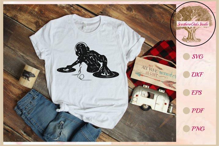 Distressed design DJ svg - Music lover diy tshirt gift