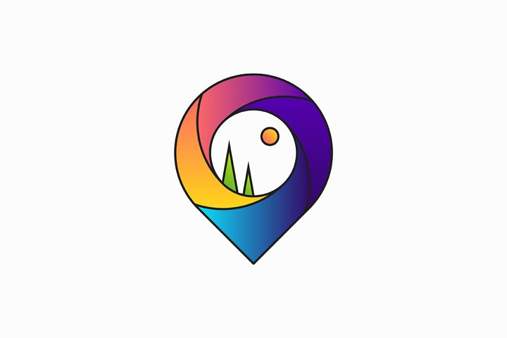 Map pointer logo design