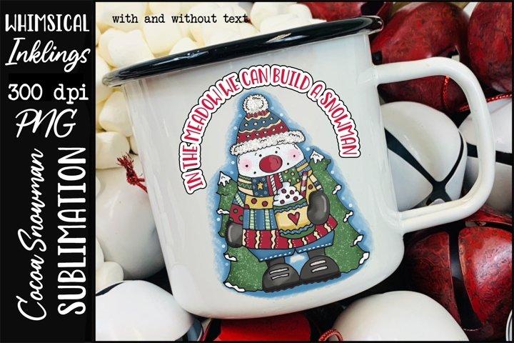Cocoa Snowman Sublimation Clipart