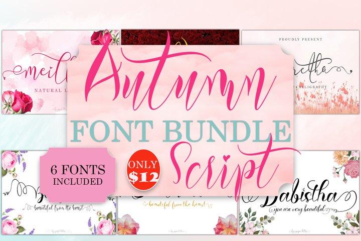 Autumn Script Font Bundle