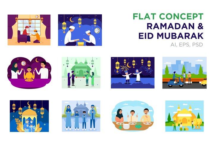 Eid Mubarak, Ramadhan Flat Concept