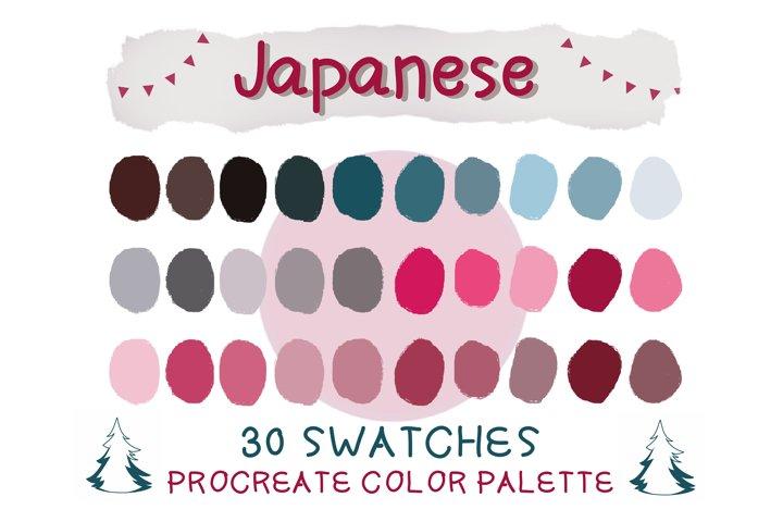 Japanese Procreate Color Palettes