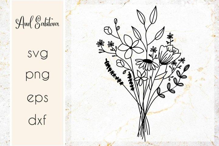 Wildflowers SVG , Flowers Cut files, Raising wildflowers SVG