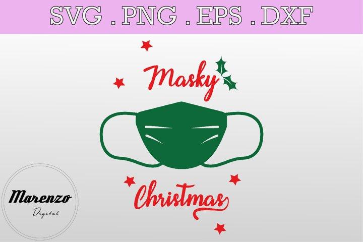 Masky Christmas SVG PNG EPS DXF