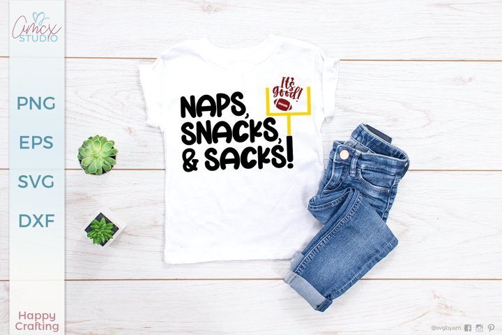 Naps, Snacks, and Sacks - Football Designs for Babies