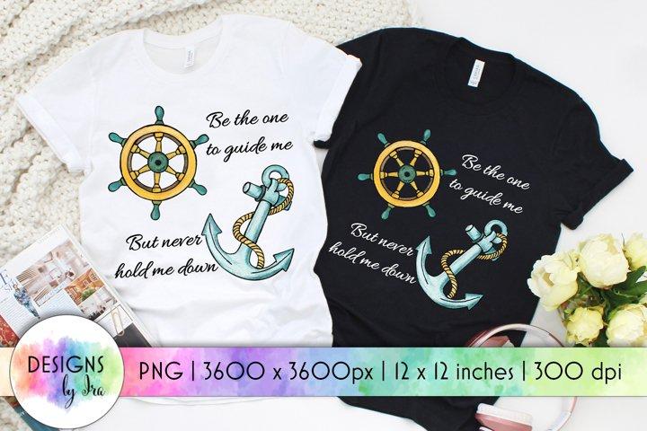Anchor PNG Design   Positive Quote   Sublimation Design