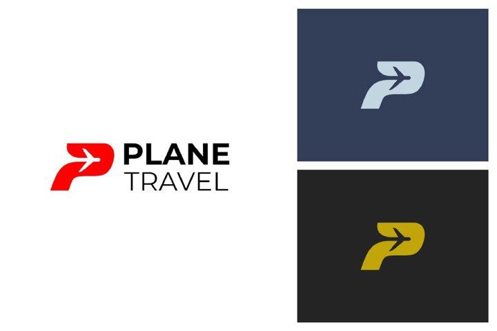 Plane P Letter Logo