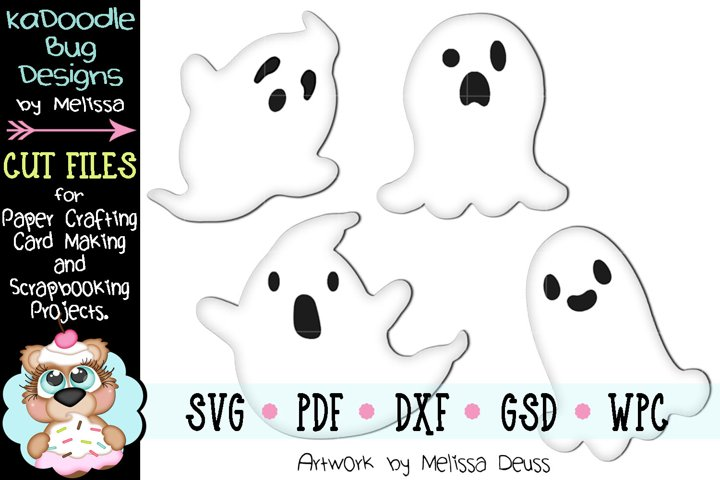 Spooky Halloween Ghosts Cut File - SVG PDF DXF GSD WPC