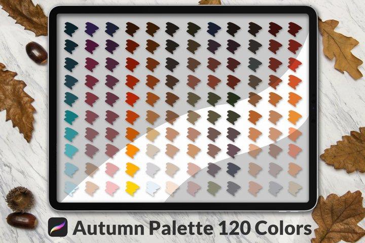 Procreate Autumn Palette | 4 Palettes | 120 Colors