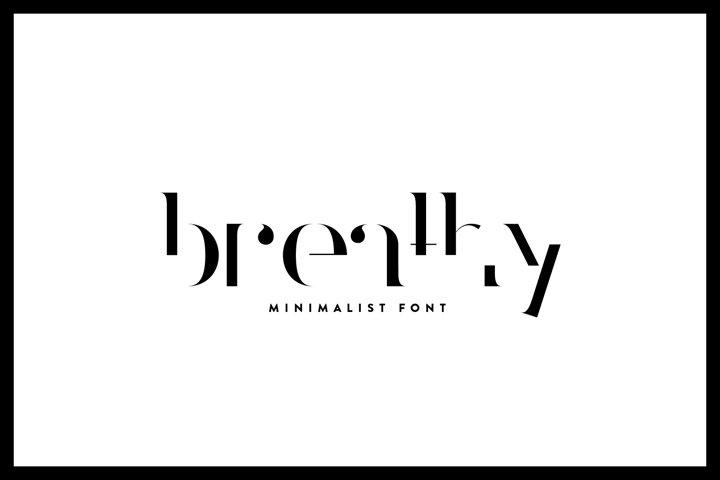 Breathy - Font Family