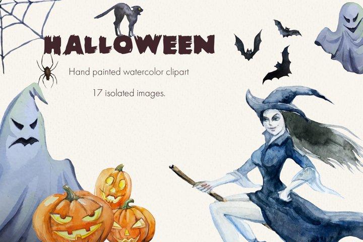 Halloween. Watercolor clipart