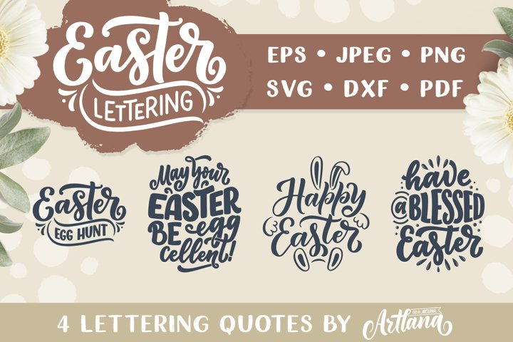 Lettering Quotes about Easter SVG