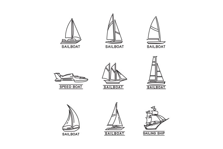 sailboat vector design