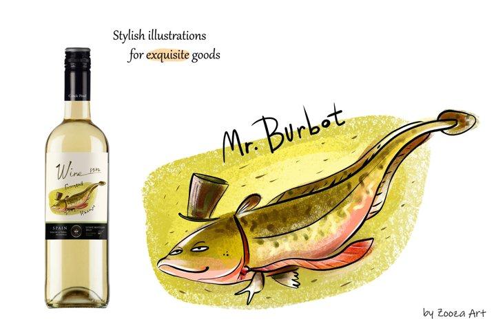 Happy River Fish - 9 illustrations example 6
