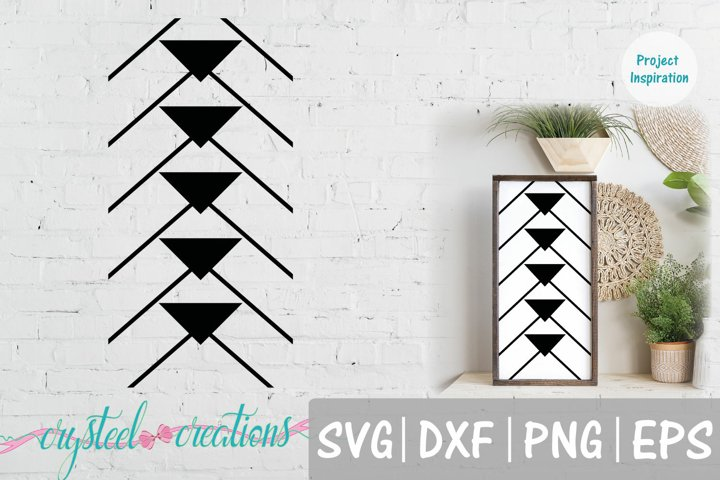 Boho Arrows Down 12x24 SVG, DXF, PNG, EPS