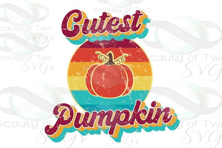 Cutest Pumpkin Vintage Retro Distressed Sublimation png 300