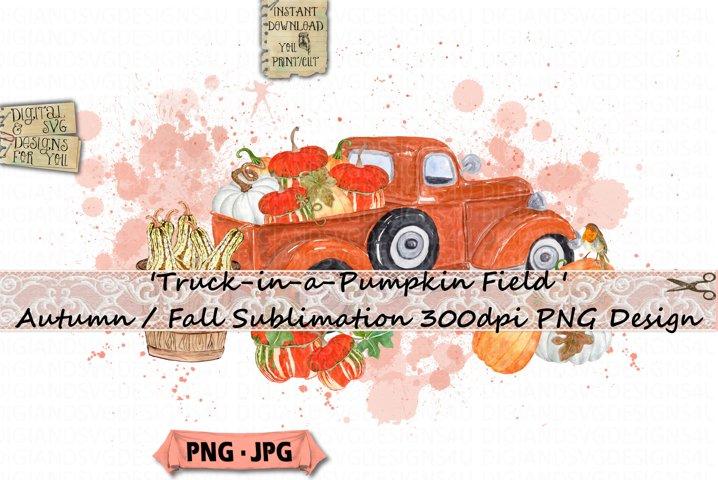 Autumn |Fall | Pumpkin | Truck |Sublimation | Fall Truck PNG