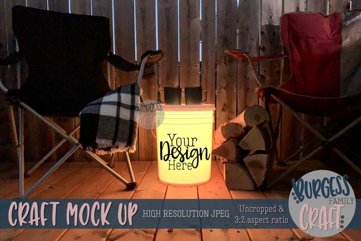 Bucket light table yellow III | Craft mock up