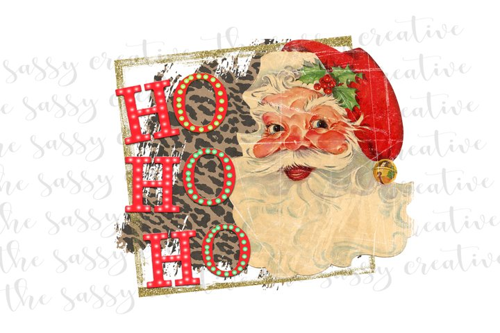 Sublimation Design | Santa Christmas Quote PNG File