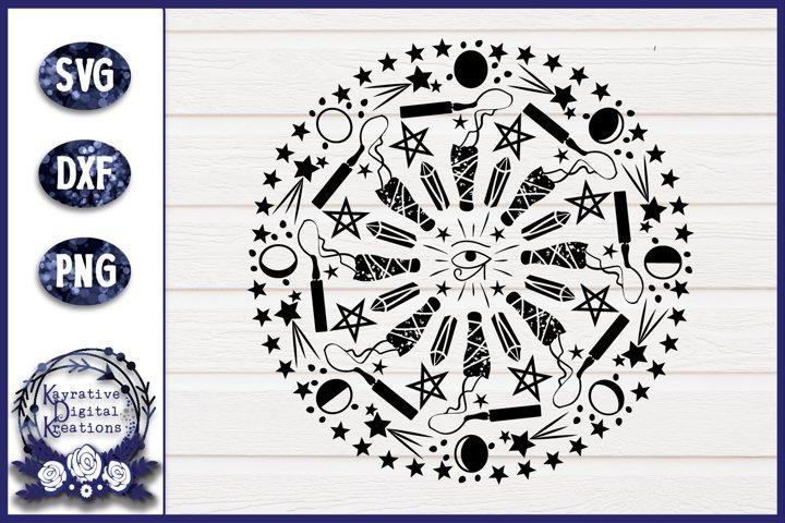 Sage Burning, Moon, Crystal SVG Design - Instant download