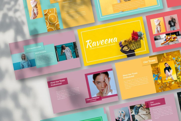 Raveena - Creative Keynote Template