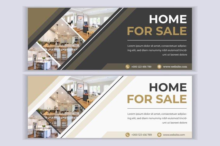 Real estate web banner social media facebook cover template