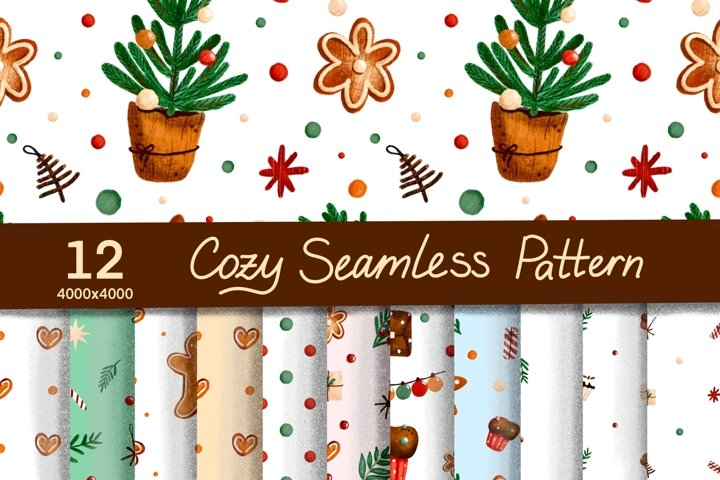 Cozy seamless Christmas pattern