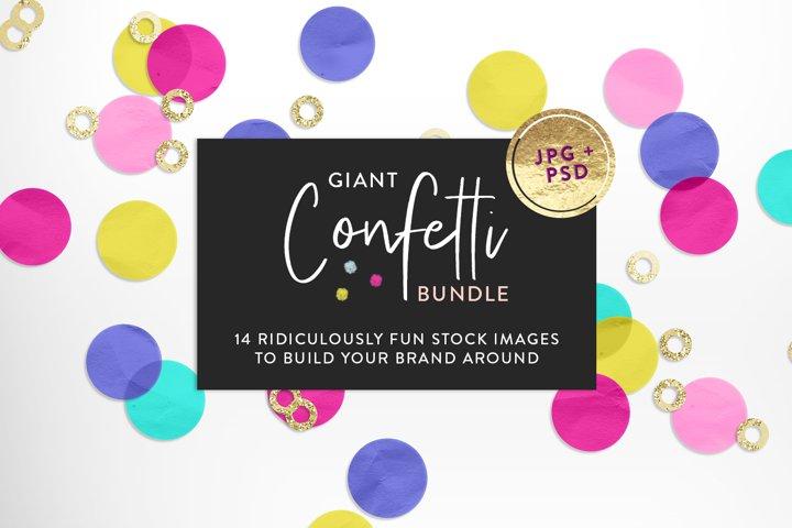 Giant Confetti Stock Image & Mockup Bundle