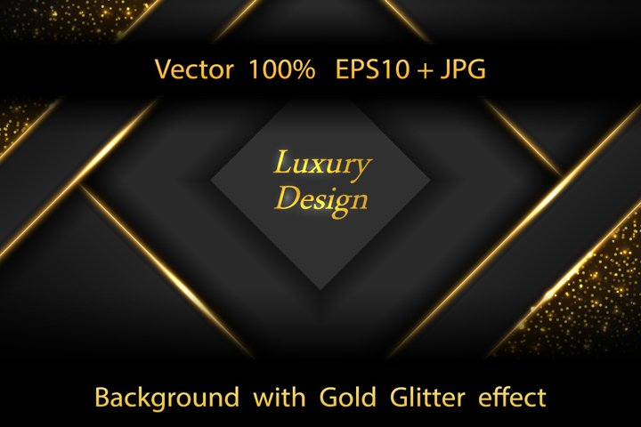 Luxury Business modern background with Gold glitter effect.