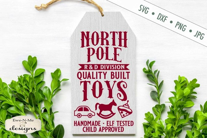 North Pole Toys | Christmas Sign SVG DXF File