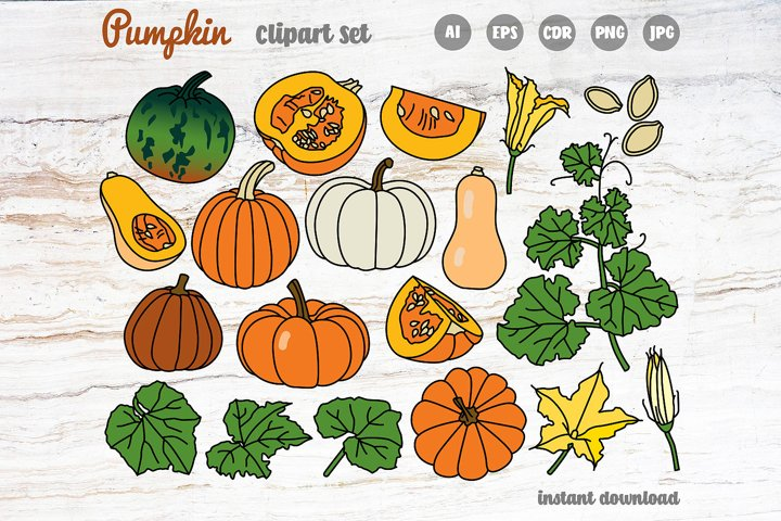 Pumpkin Clipart Set