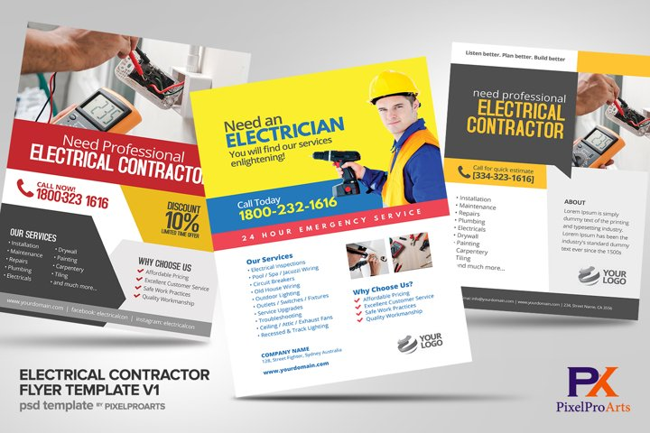 Electrical Contractor Flyer Template V1