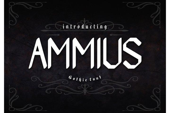 Ammius Gothic Font