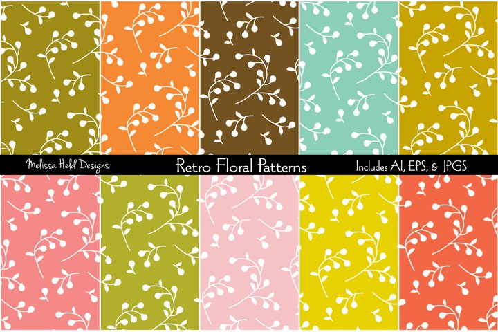 Retro Floral Patterns