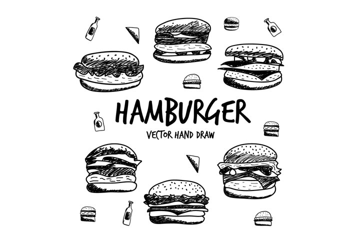 hand draw hamburgers
