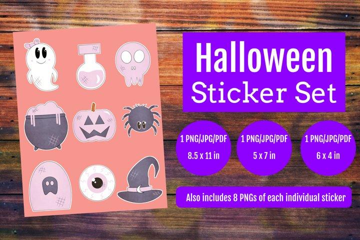 Halloween Sticker Set | Halloween Sticker | Sticker Set
