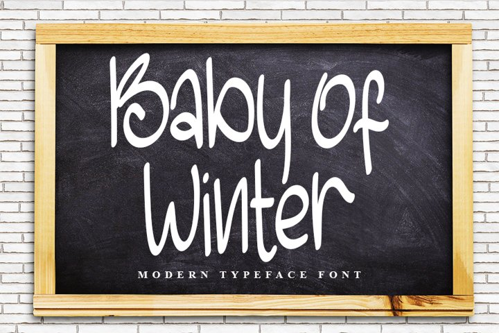 Baby Of Winter - Modern Typeface Font