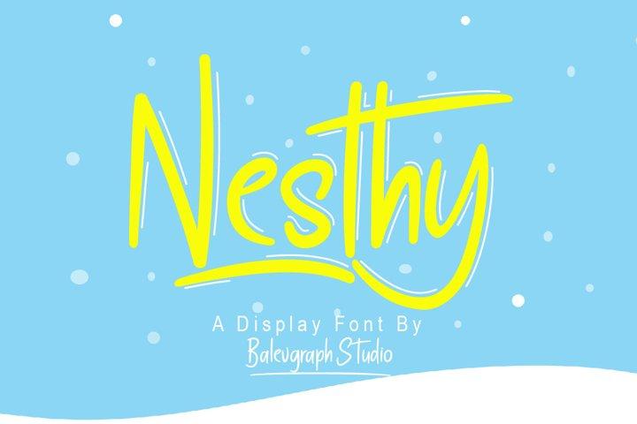 Nesthy Typeface