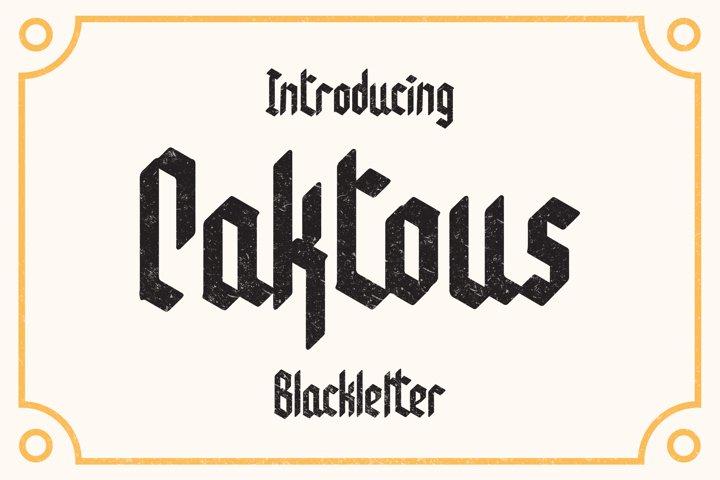 Caktous - Blackletter Font