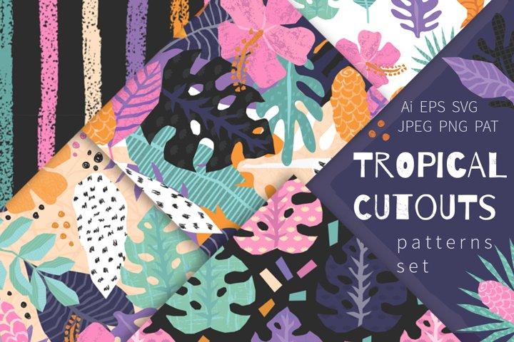 Tropical Cutouts Patterns Set